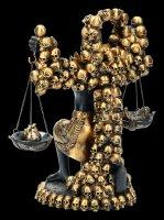 Anubis Figur mit Herz und Feder - Schwarz-Gold