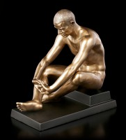 Male Nude Figurine - Sitting on Pedestal