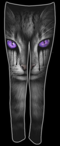 Leggings mit Katze - Cat's Tears