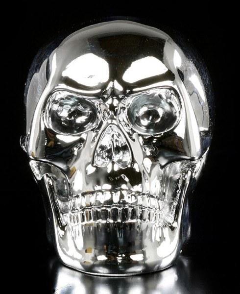 Wütender Totenkopf - chrom