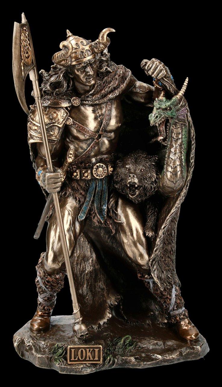 Loki Figur mit Drache