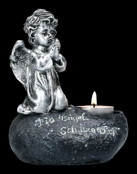 Graveyard Angel Tealight Holder - An Angel Protects You