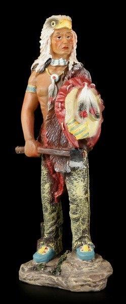 Indianer Figur - Mit Waffen und Adlerkopf