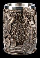 Wikinger Krug - Drakkar bronziert
