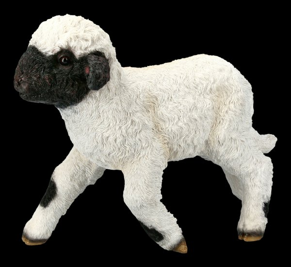 Garden Figurine - Lamb takes the first steps