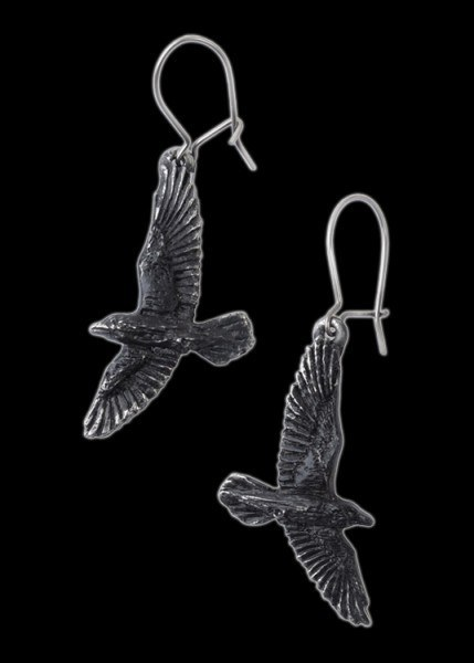 Black Raven - Alchemy Gothic Earrings