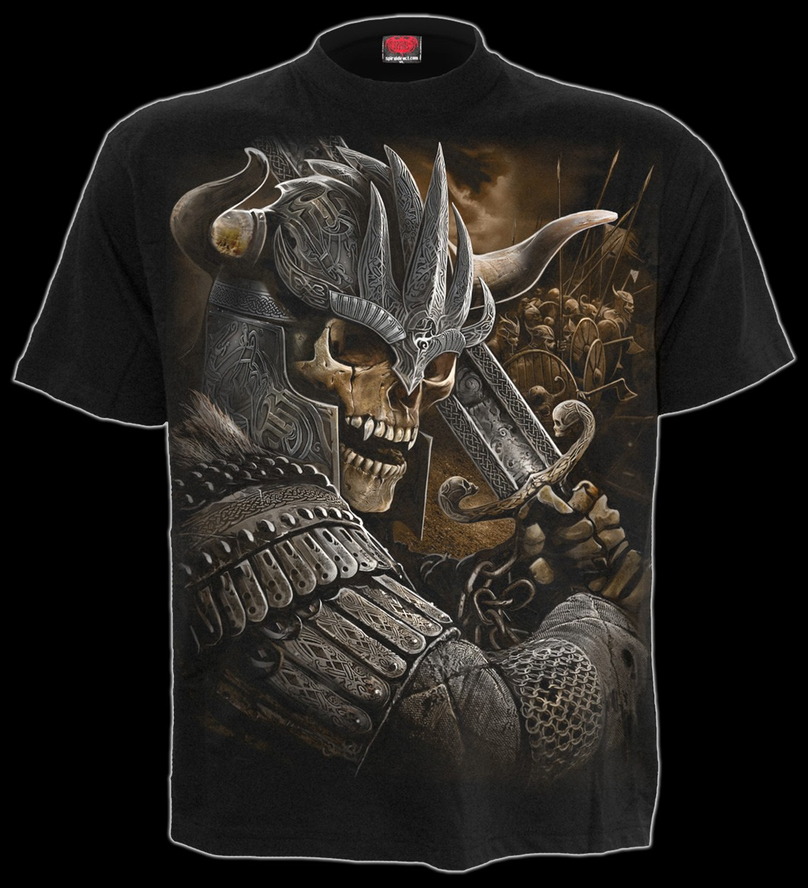 Spiral T-Shirt Skelett Wikinger - Viking Warrior