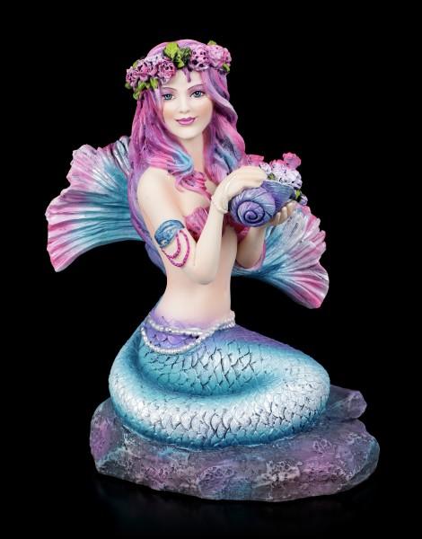 Spring Flowers Mermaid Figurine