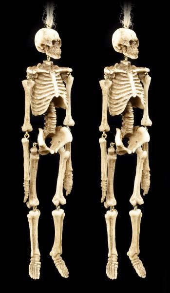 Skelett Figur zum Hängen - 2er Set