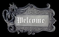 Drachen Türschild - Welcome