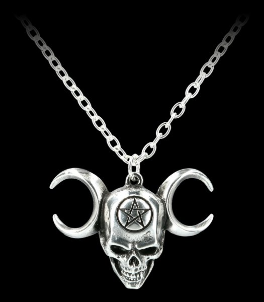 Alchemy Skull Necklace - Lune Mystique