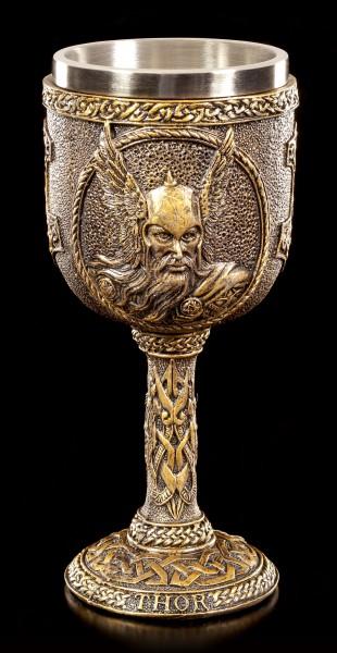 Wikinger Kelch - Nordischer Gott Thor