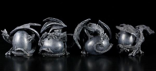 Dragon Guarding Eggs - Set of 4