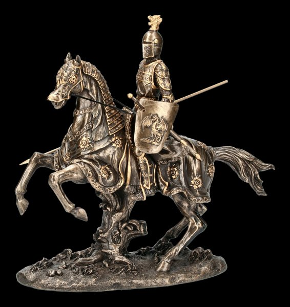 Knights Figurine - Cavalier with Horse and Spear