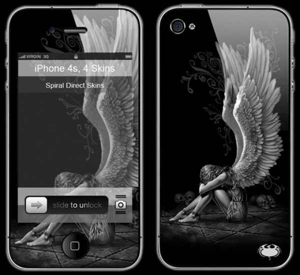 Gothic Smartphone Skin - Enslaved Angel