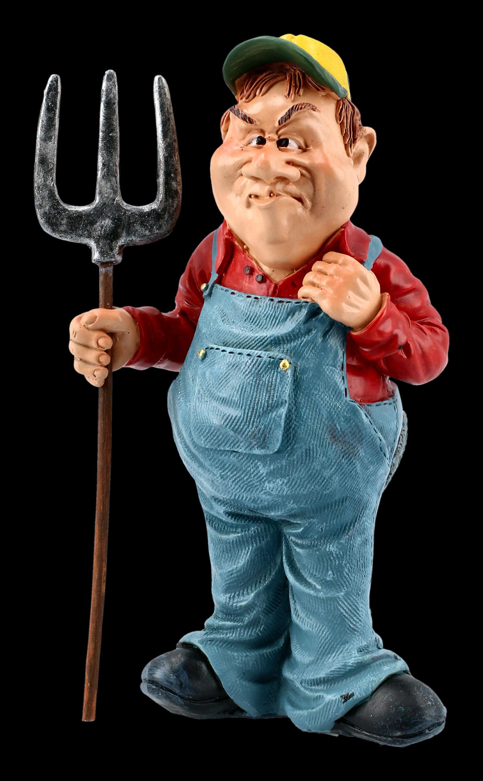 Bauer mit Mistgabel Farmer 15 cm Beruf Funny Figur Kollektion Neu