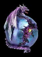 Drachenfigur mit LED - Crevice Keeper lila