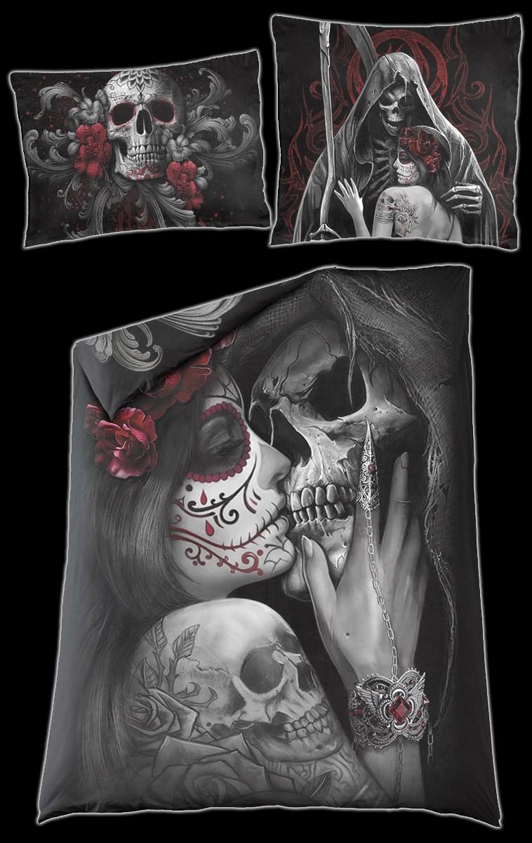 Totenkopf Bettwäsche Skull Roses Bettwäsche Bettwäsche