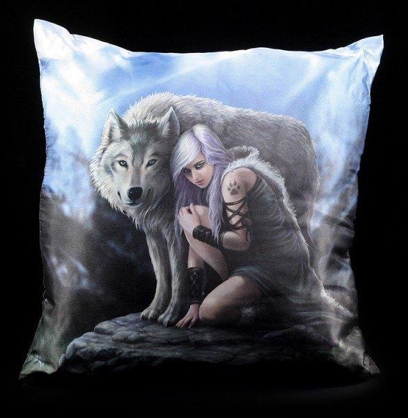 Kissen mit Wolf - Protector