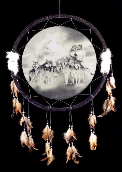 Großer Traumfänger mit Wolf - Luna Pack