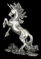 Einhorn Figur aus Zinn mit Schmucksteinen