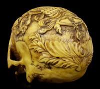 Human Skull Ashtamangala - The Eight Auspicious