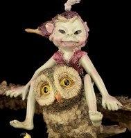 Pixie Figur - Mit Eule hoch hinaus