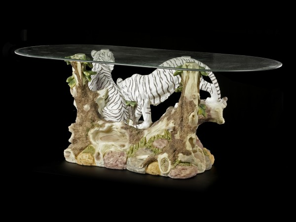 Tiger Table with Glass Plate - Family Ties