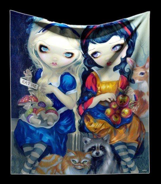 Kuschelige Decke mit Elfe - Alice & Snow White