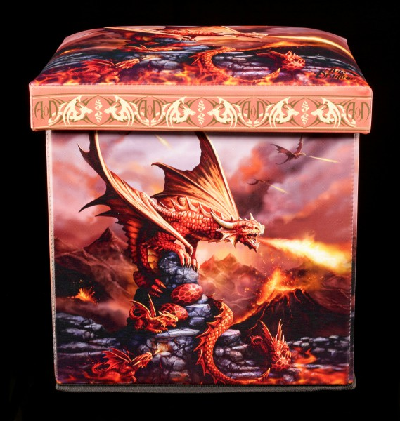 Aufbewahrungshocker Feuerdrache - Fire Dragon