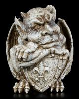 Gargoyle Gartenfigur mit Schild