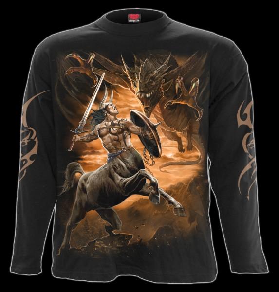 Drachen Langarmshirt - Centaur Slayer