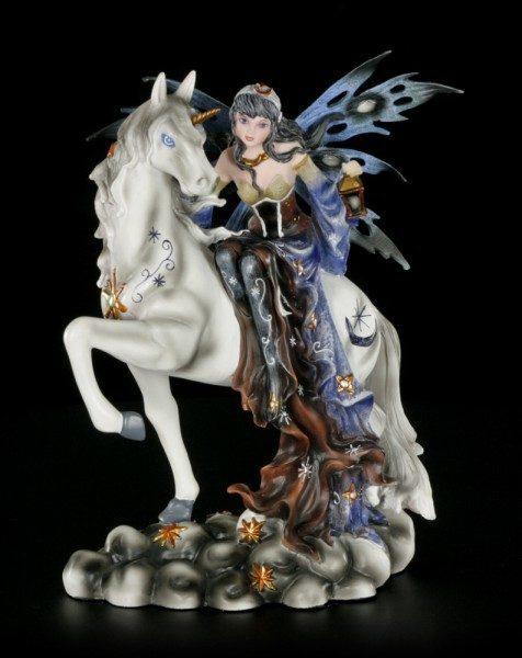 Fairy Figurine - Noctiva the Nightwatchman on Unicorn