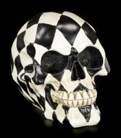Checkered Skull with LED Eyes