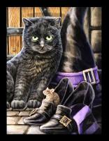 Kleine Leinwand Katze - Trouble & Squeak by Lisa Parker