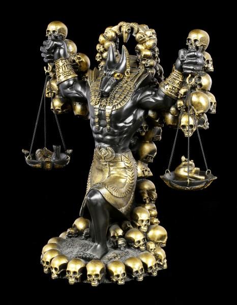 Anubis Figur mit Herz und Feder groß