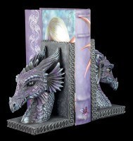 Dragon Bookends Set - Purple