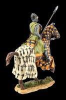 Ritter Figur auf Pferd mit Speer - bunt