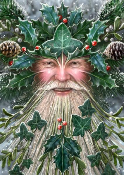 Fantasy Christmas Card - Spirit of Yule