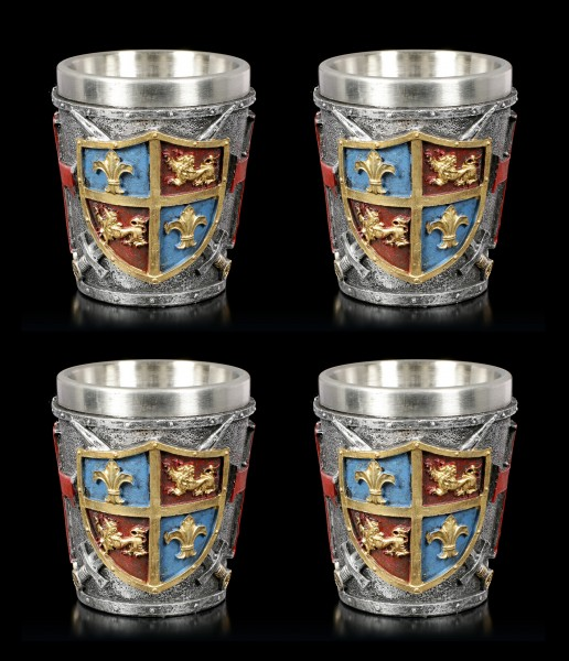 Medieval Shot Cups - Crest Set of 4
