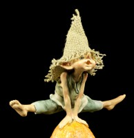 Pixie Goblin Figurine leap-frog - Hurray!