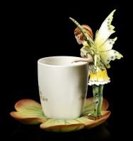 Elfen Figur mit Tasse - Green Fairy Siby