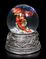 Schneekugel mit Drache - Enchanted Ruby