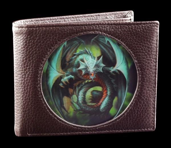 Geldbörse braun mit 3D Drache - Jade Emerald Dragon