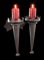 Mittelalterlicher Doppel Kerzenhalter