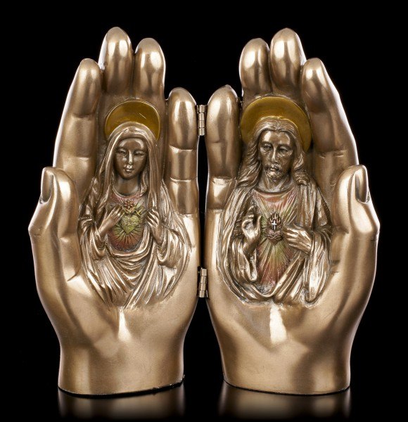 Blessed Hands Diptych - Jesus and Mary