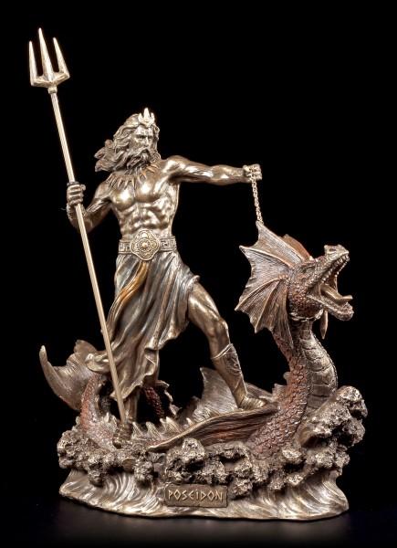 Poseidon Figur - Reitend auf Seeungeheuer