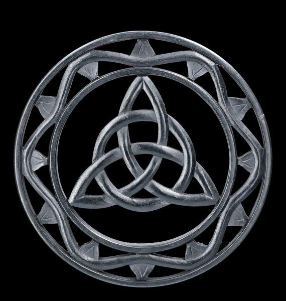 Wall Ornament - Black Wood Triqueta