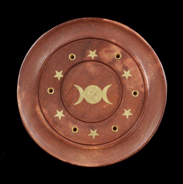 6-fach Räucherstäbchenhalter - Dreifach Mond