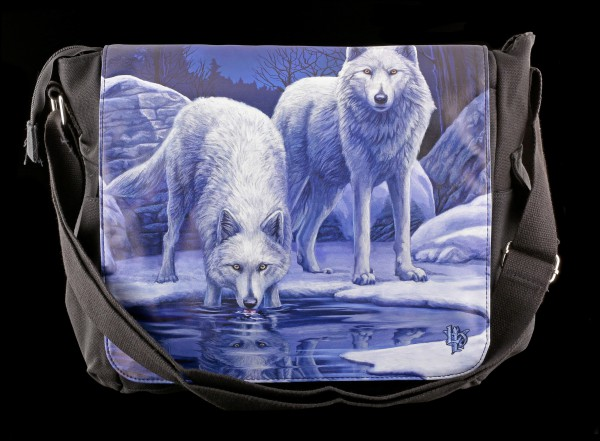 Messenger Bag with Wolves - Warriors of Winter